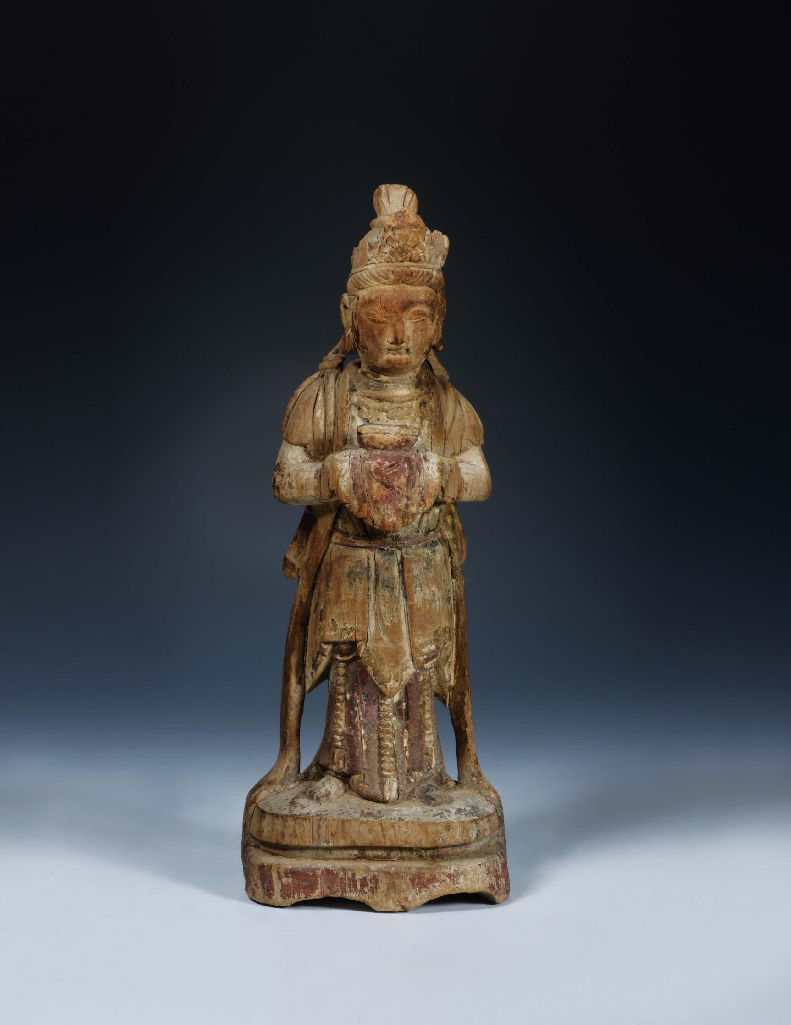 佛像 > 木雕供养菩萨